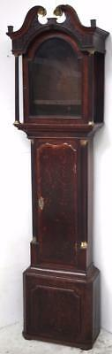 English 8 Day Longcase Clock Case - Grandfather Clock Case for 18 Inch Arch Dial