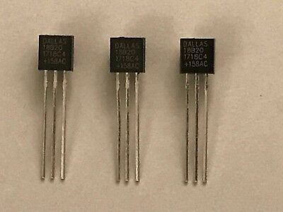 3pcs DS18B20 TO-92 Digital Thermometer Sensor TO92 Raspberry Arduino UK