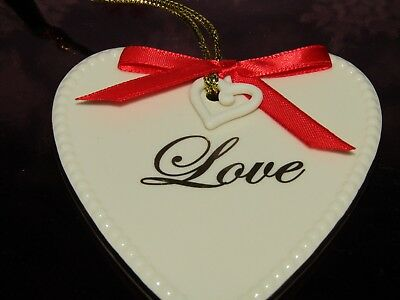 Lenox ~ 'Expressions From The Heart' ~ Love Ornament With Heart Dangle