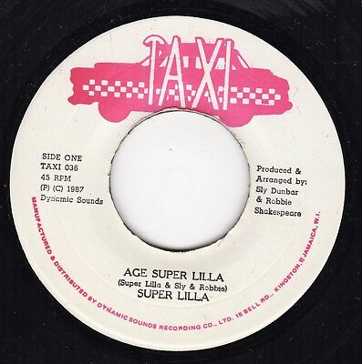 """ AGE SUPER LILLA. "" super lilla. TAXI 7in 1987."