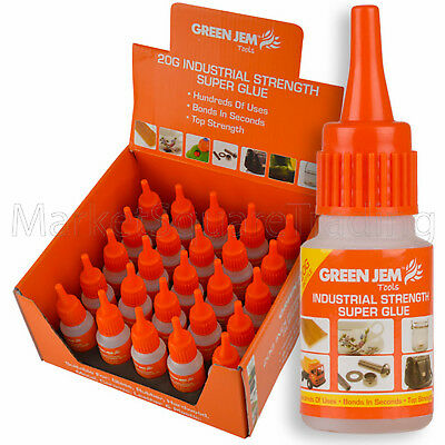 SUPER GLUE STRONG INDUSTRIAL STRENGTH 20g BOTTLES 1 3 5 12 OR 25s CYANOACRYLATE