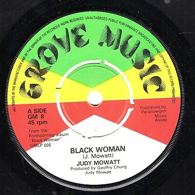 """ BLACK WOMAN. "" judy mowatt. GROVE MUSIC 7in 1978."