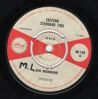 """ EASTERN STANDARD TIME. "" don drummond. ISLAND RECORDS 7in 1964."