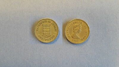 Very Scarce 1987 Parish of St Martin Jersey £1 one Pound Coin. **
