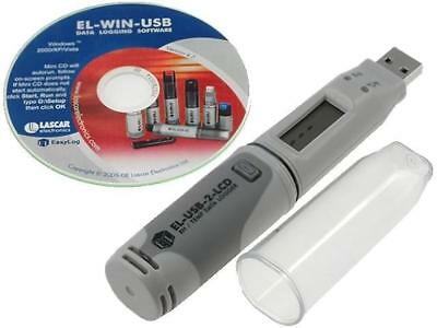 EL-USB-2-LCD Logger temperature and humidity -35÷80°C 0÷100%RH LASCAR