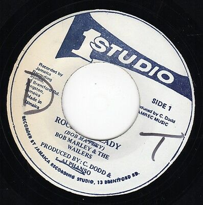 """ ROCKING STEADY. "" bob marley & the wailers. STUDIO ONE 7in 1983."