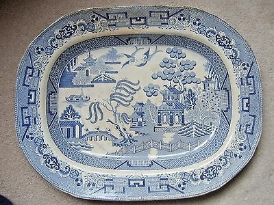 Machin and Potts Staffordshire willow pattern serving plate large