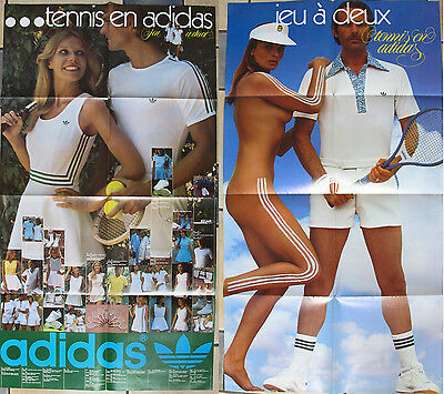 exceptionnel GRAND poster vintage ADIDAS 2 faces