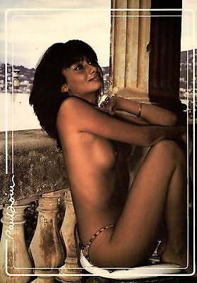 Nude Pinup Sexy Girl Cote D'azur France topless postcard 4 X 6 inches