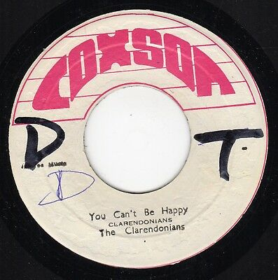 """ YOU CAN'T BE HAPPY. "" the clarendonians. COXSON 7in."