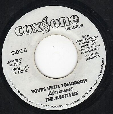 """ YOURS UNTIL TOMORROW. "" the minstrells. COXSONE RECORDS 7in."