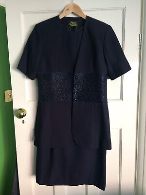 Gina Bacconi Navy Two Piece Outfit - Wedding/Mother Of The Bride Size 12