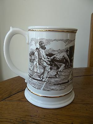 Large Franklin Porcelain The Ashes Centenary Tankard 1882 - 1982