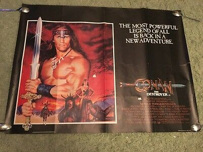Conan The Destroyer Uk Quad Poster Arnold Schwarzenegger grace jones original