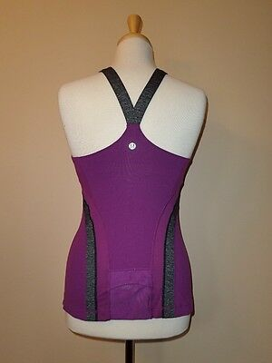 Lululemon Athletica Sun Salutation Tank Top Potion Purple Size 6 Euc Rare