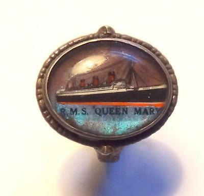 H M S Queen Mary Vintage Silver Ring Souvenir