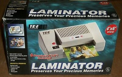"TDE Systems 4""X6"" PHOTO LAMINATOR 345540-116 NEW"