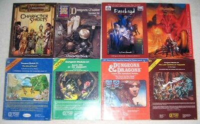 HUGE LOT 40+ MODULES BOOKS D&D AD&D TSR Dungeons Dragons Sourcebooks Guide DND