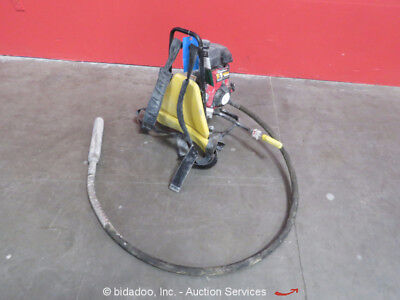 "2016 Oztec BP50A Gas Concrete Vibrator Honda 2.5 HP Quick Disconnect 2.5"" Head"