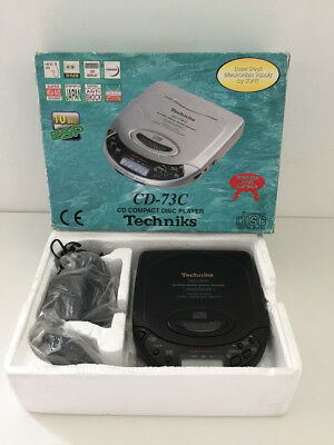 Techniks CD Compact Disc Player CD-73C Vintage Boxed with Mains Lead