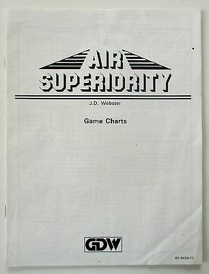 Air Superiority ~ Gdw ~ Game Charts Booklet