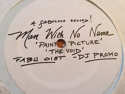 Man With No Name-Painted Picture/the Void-Fabulous Dj Promo-1993-Trance-Rare