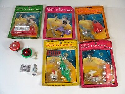 Vintage Rare Apollo Moon Landing Space Series Lot Spaceships & Figures