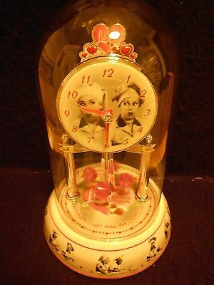 """I Love Lucy Dome Mantel Chocolate Factory Anniversary Clock -Lucy & Ethel 10"""""""