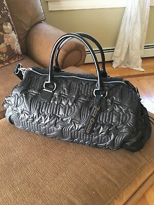 Authentic Juicy Couture Quilted Nylon Duffle / Weekender Bag Black