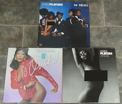 Ohio Players 3 vinyl LPs 1977 1981 very good++/excellent