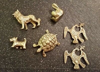 Collection Of Solid Brass Animal Figures