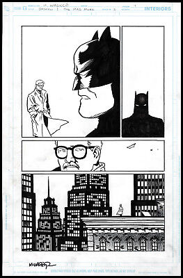 BATMAN AND MAD MONK ORIGINAL ART PAGE by Matt Wagner Issue 5 pg 9 MAGE GRENDEL
