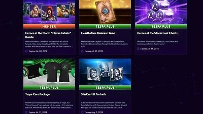 Tespa Plus Benefits Blizzard Incl. Dalaran Flame Hearthstone Cardback amm.