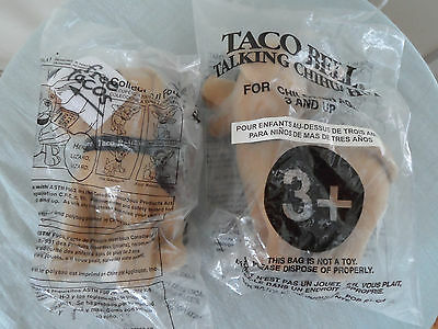 Lot of (2) Taco Bell - Talking CHIHUAHUA Plush Dogs