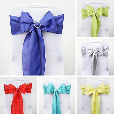 300 WHOLESALE Lot Polyester CHAIR SASHES Ties Bows Wedding Party Decorations