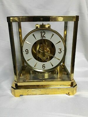 Vintage 1963 Le Coultre Atmos Clock SN #179202 15 jeweled movement Excellent