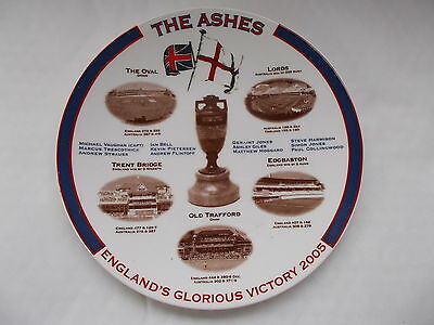 The Ashes - England's Glorious Victory 2005 Plate -Made By Aynsley Pottery - 8""