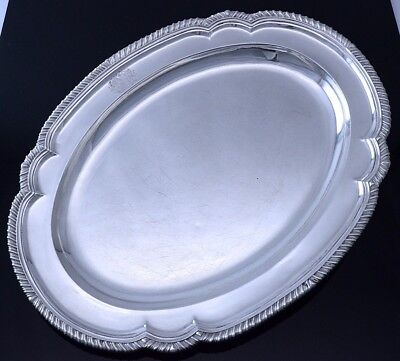 Incredible Very Large 1799 London Georgian Sterling Silver Armorial Platter Tray
