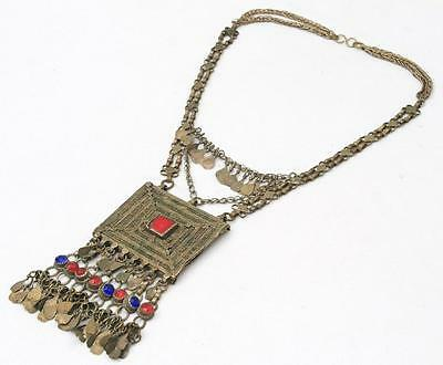 Rare Banjara Vintage Tribal Gypsy Kuchi Belly Dance Chain Ethnic Necklace