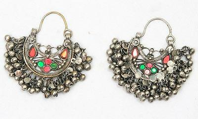 Vintage Boho *jhumka* Belly Dance Banjara Kuchi Tribal Gypsy Pair Of Earrings