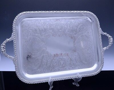 Very Fine Quality Large Charles Howard Collins Silver Plate Serving Platter Tray