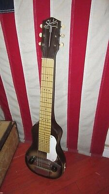 Vintage Orig 1950's Silvertone Lap Steel w/ Homemade Case P-13 Pickup Awesome!