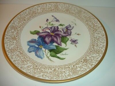 Boehm England Clematis Plate