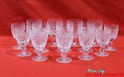 Waterford - Avoca - Set Of 14 - Water Goblets & Small Goblets - Stemware