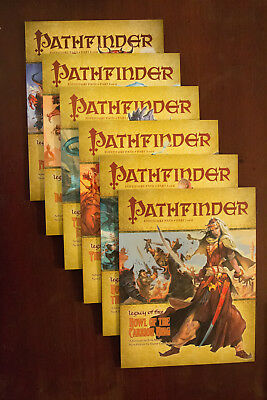 Pathfinder Adventure Path 13-18 Legacy of Fire Complete Lot New