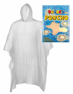 Disposable CLEAR Poncho Waterproof Festival Rain Mac Theme Park  - 1/2/3/4