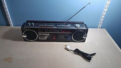 Sharp WQ-562 Boombox Dual Cassette w/ equalizer - Works great!