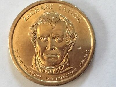 2009D Zachary Taylor US Presidential dollar coin.