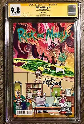 Rick And Morty 1 5Th Print Cgc Ss 9.8 Signed X 1 Justin Roiland & Szechuan Nm/mt