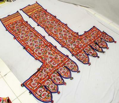 "51"" X 26"" Vintage Special Embroidery Rabari Ethnic Door Wall Tribal Hanging"